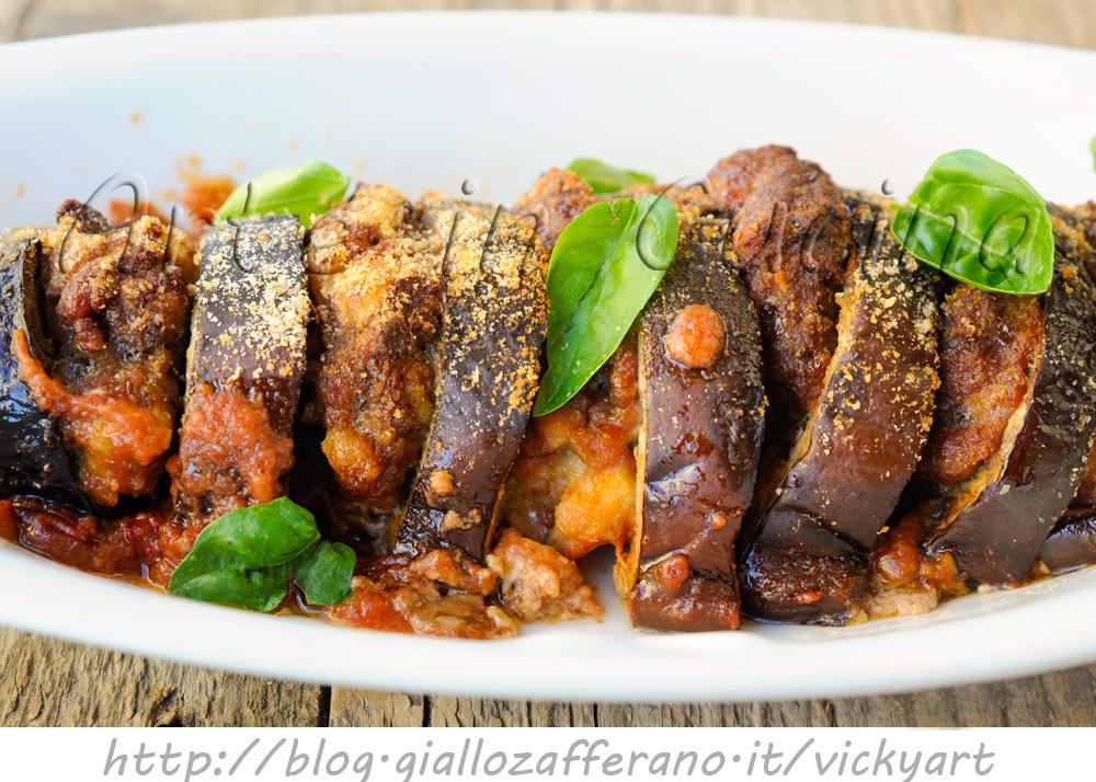 Teglia di melanzane e carne macinata al forno vickyart arte in cucina