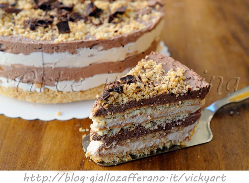 Torta di biscotti al cioccolato e caffe fredda arte in for Cucina dolce