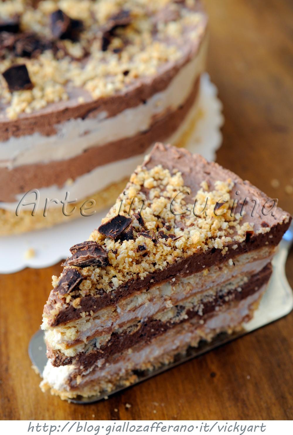 Amato Torta di biscotti al cioccolato e caffe fredda | Arte in Cucina QW93