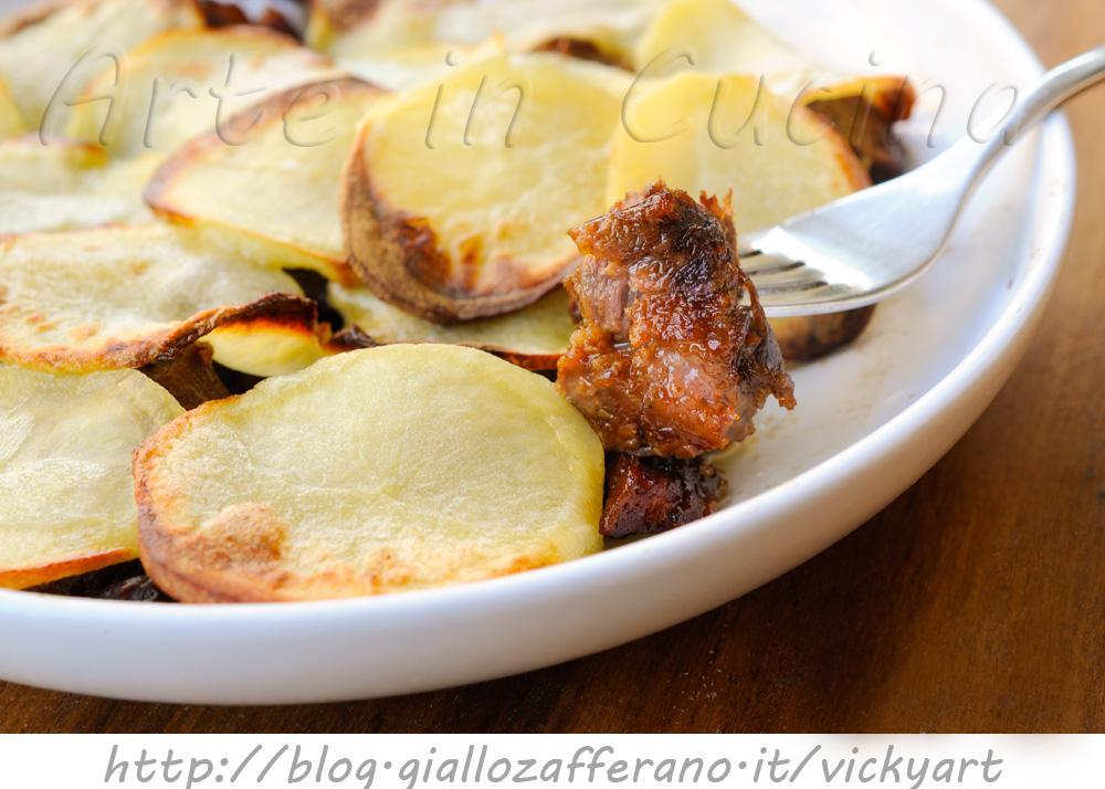 Torta di carne e patate alla birra vickyart arte in cucina