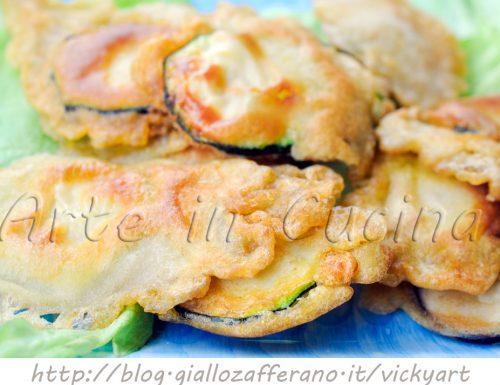 Zucchine in pastella con parmigiano veloci