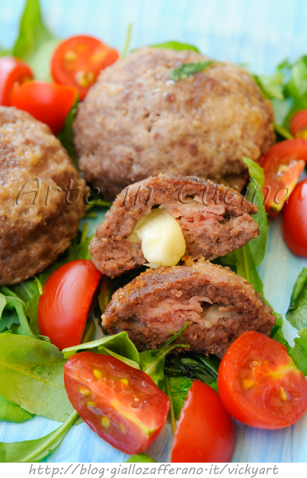 Bombe di carne ripiene ricetta sfiziosa veloce vickyart arte in cucina