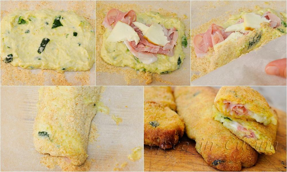 Cannoli di zucchine e patate ripieni sofficissimi vickyart arte in cucina