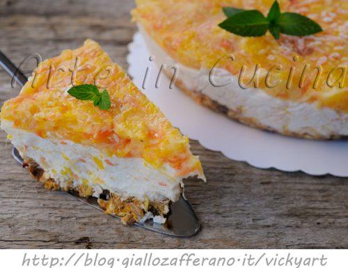 Cheesecake agli agrumi ricetta dolce senza cottura