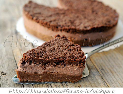 Crostata fredda ripiena con ricotta e cioccolato