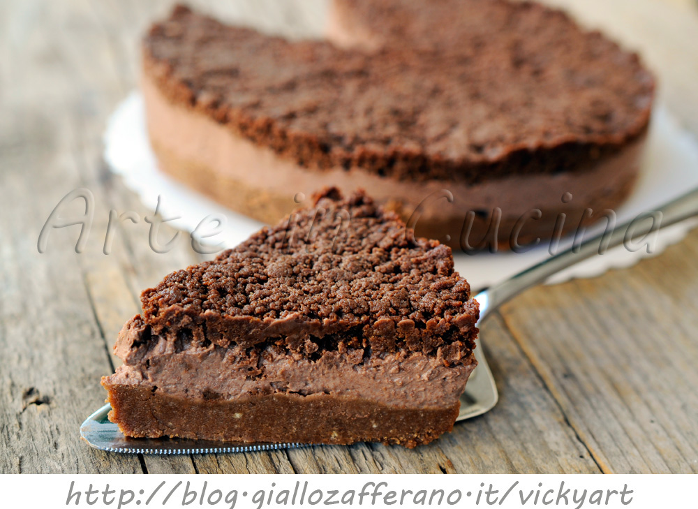 Crostata fredda ripiena con ricotta e cioccolato vickyart arte in cucina
