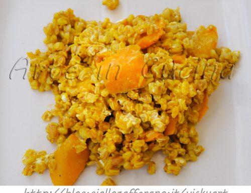 Farro al curry e crema di peperoni ricetta facile