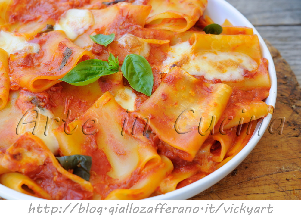 Paccheri alla sorrentina ricetta napoletana veloce for In cucina ricette