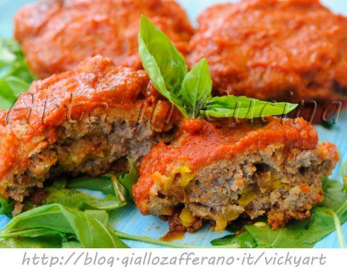 Polpette di carne con peperoni al sugo e zafferano