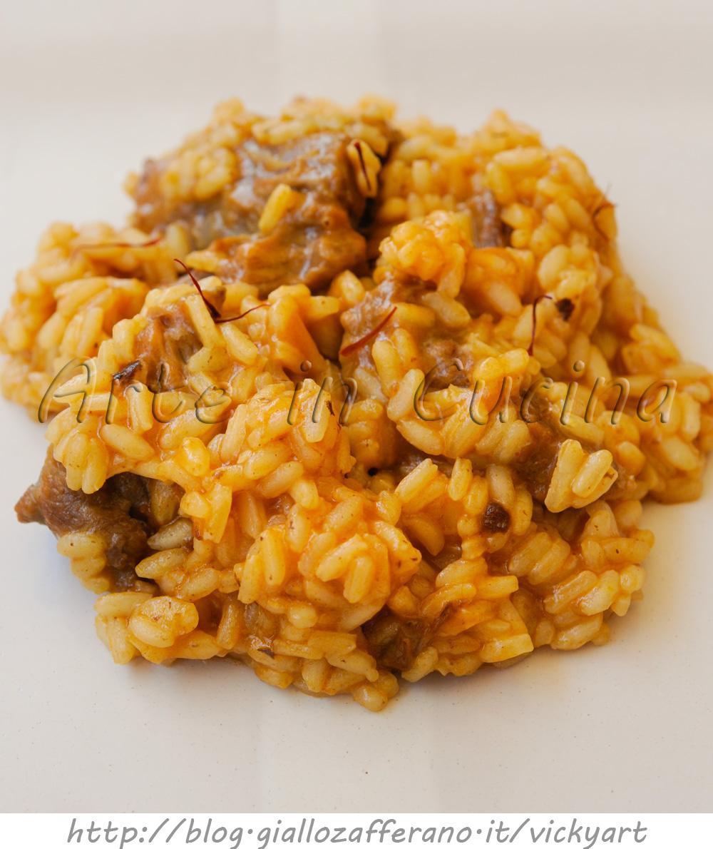 Risotto con carne e zafferano ricetta primo piatto facile vickyart arte in cucina