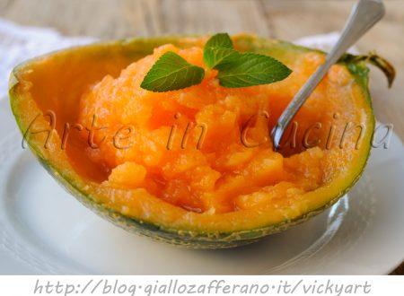 Sorbetto al melone e zenzero ricetta facile