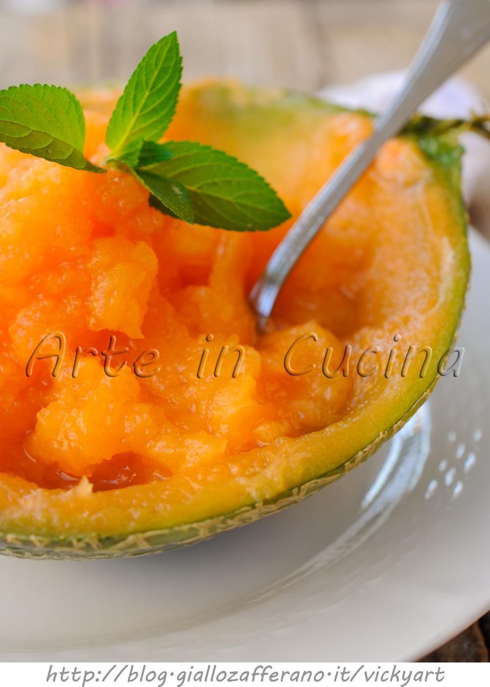 Sorbetto al melone e zenzero ricetta facile vickyart arte in cucina