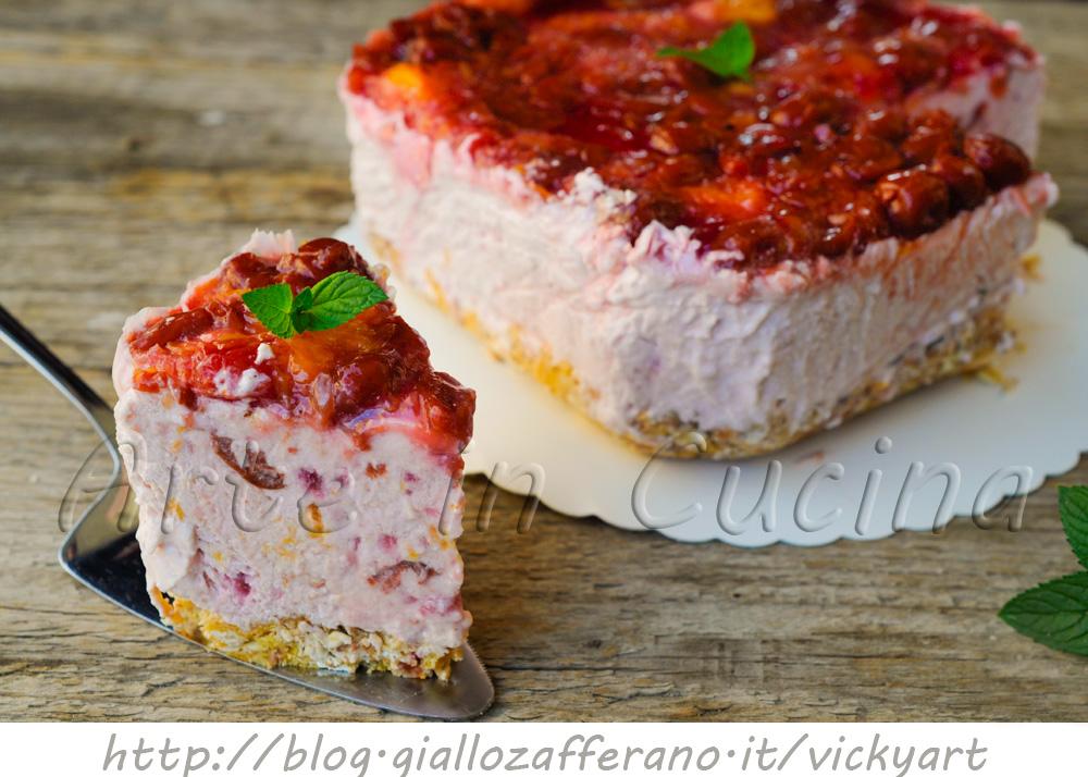 Torta fredda alle albicocche e marmellata ricetta facile vickyart arte in cucina
