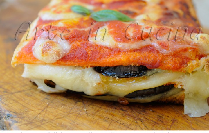 Torta pancarrè con melanzane alla parmigiana veloce