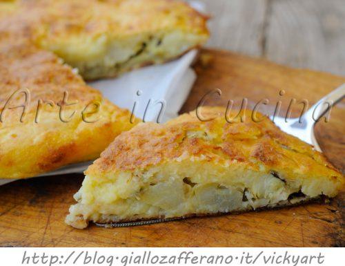 Torta di patate e carciofi salata ricetta saporita