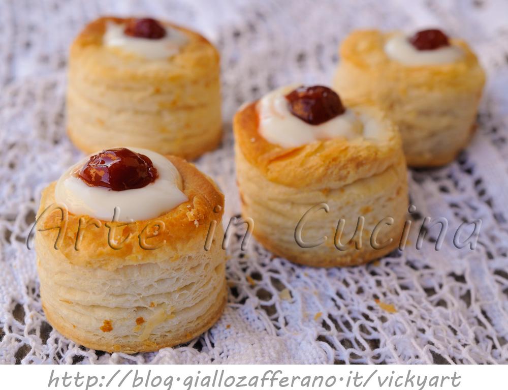 Vol au vent ripieni dolci con crema leggera vickyart arte in cucina