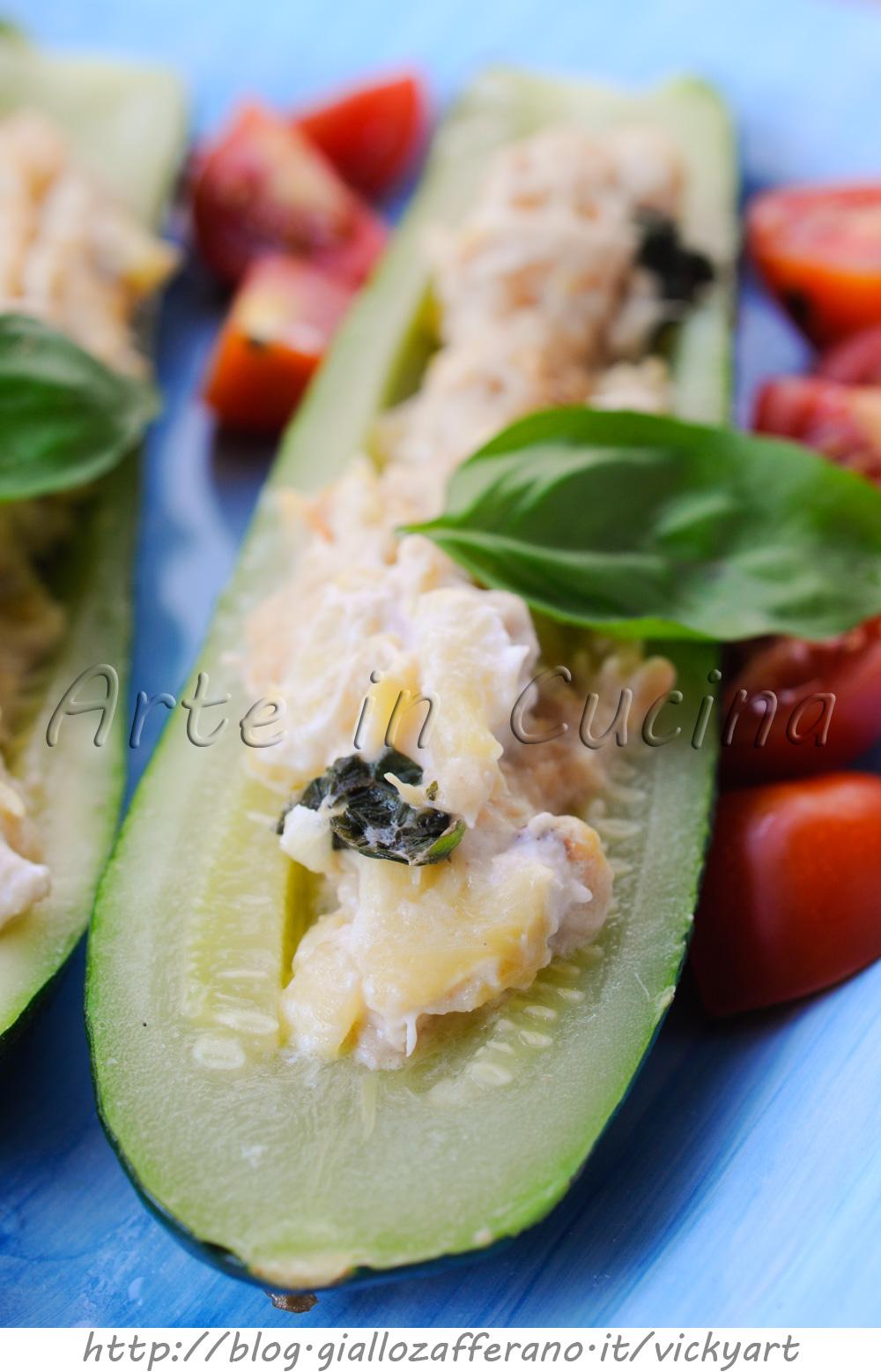 Zucchine con tonno e ricotta in padella ricetta leggera vickyart arte in cucina