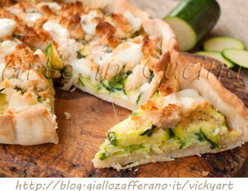 Crostata di zucchine e mollica facile e veloce