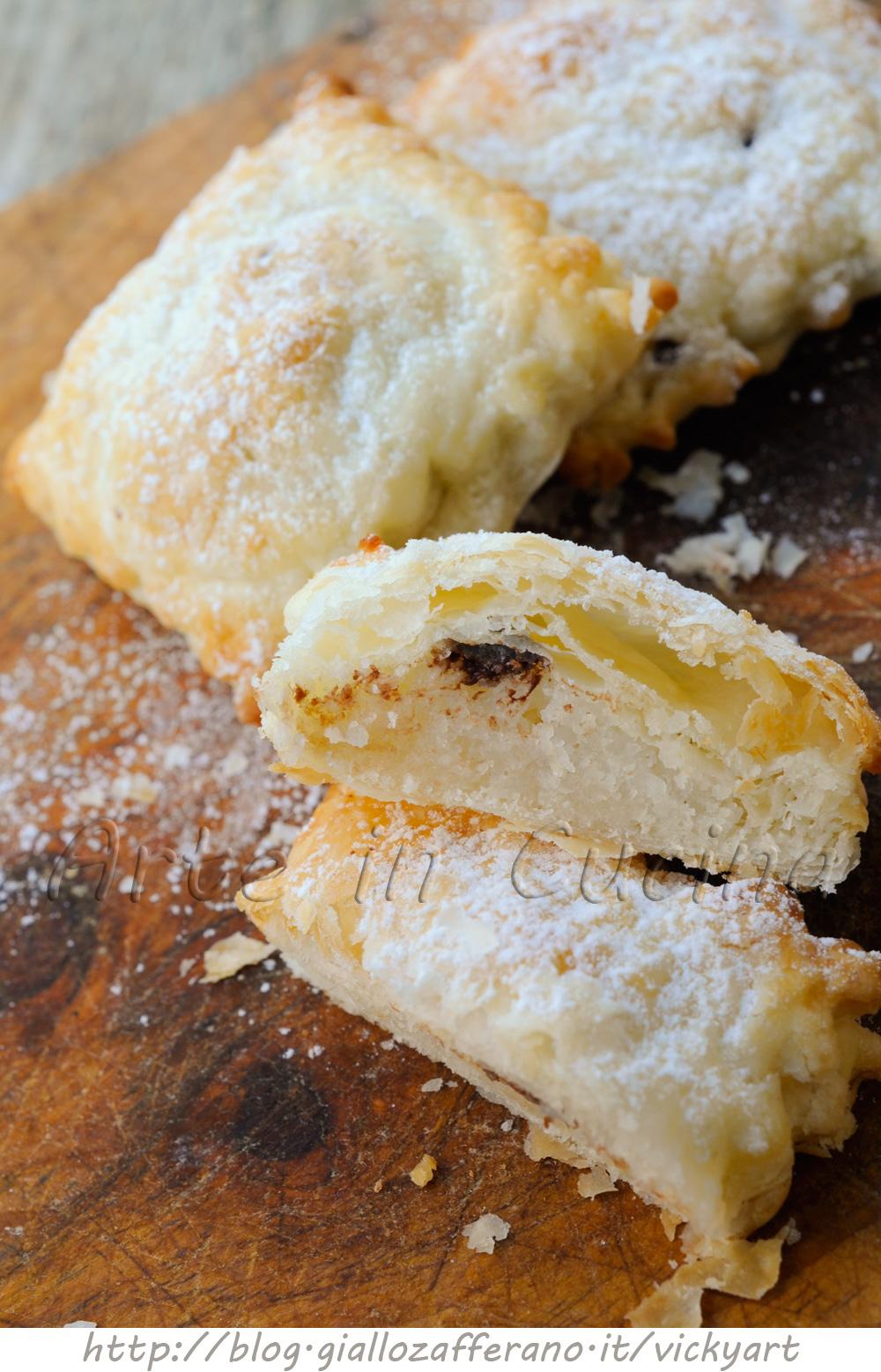 Dolcetti sfogliati al cocco e cioccolato veloci vickyart arte in cucina