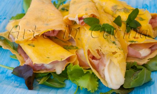 Fagottini veloci salati con prosciutto e mozzarella