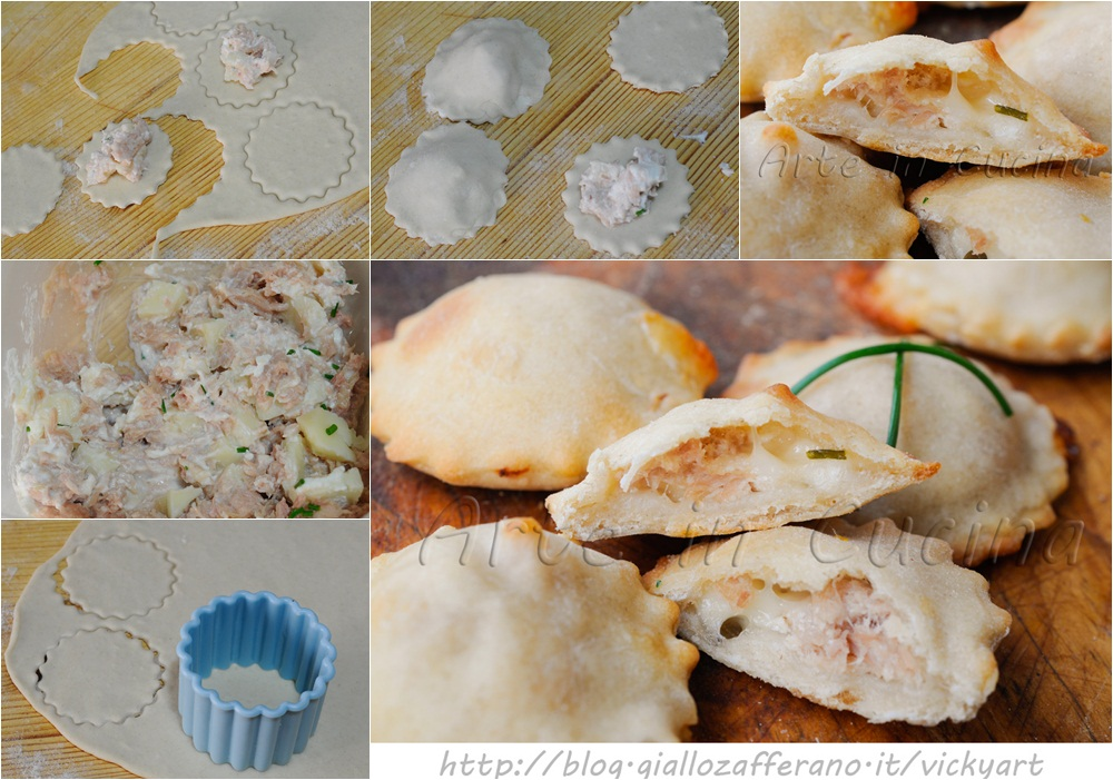 Focaccine al tonno e asiago facili e veloci vickyart arte in cucina