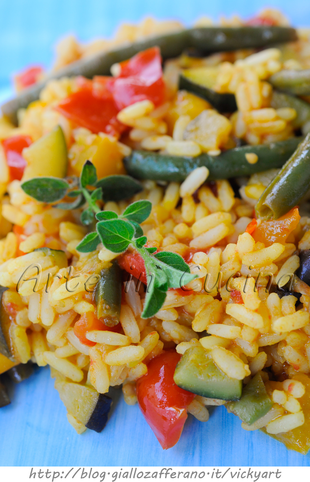 Paella vegetariana ricetta con verdure e zafferano - Una vegetariana in cucina ...