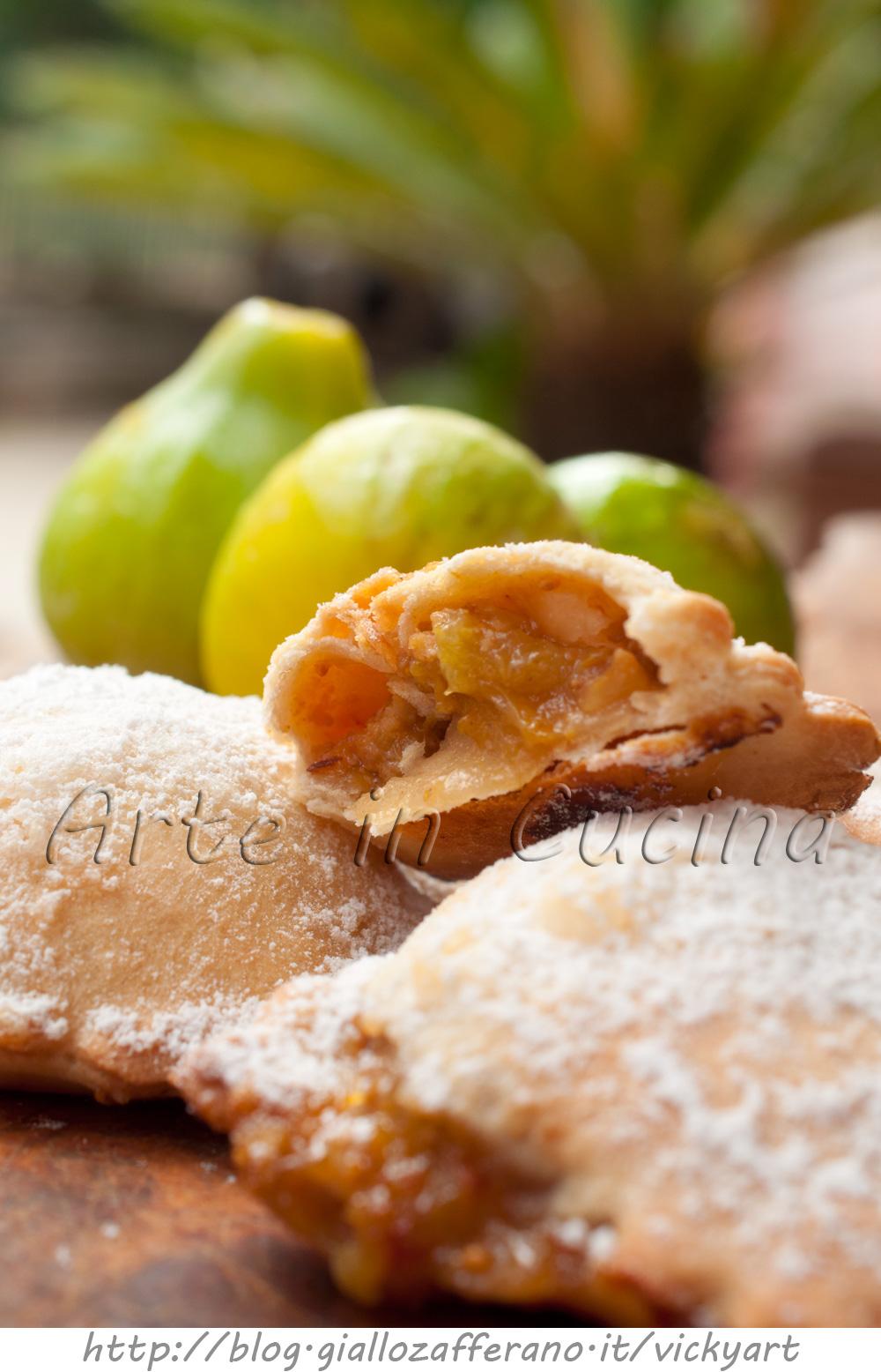 Panzerotti dolci con fichi e noci ricetta veloce vickyart arte in cucina