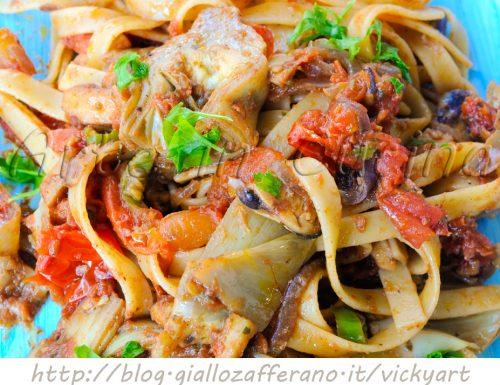 Pasta ai frutti di mare e carciofi ricetta facile