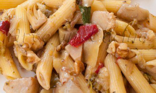 Pasta con noci e carciofi ricetta veloce
