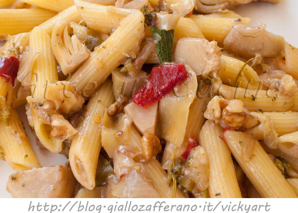 Pasta con noci e carciofi ricetta veloce vickyart arte in cucina