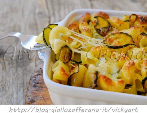 Pasticcio di pasta con zucchine e pecorino veloce