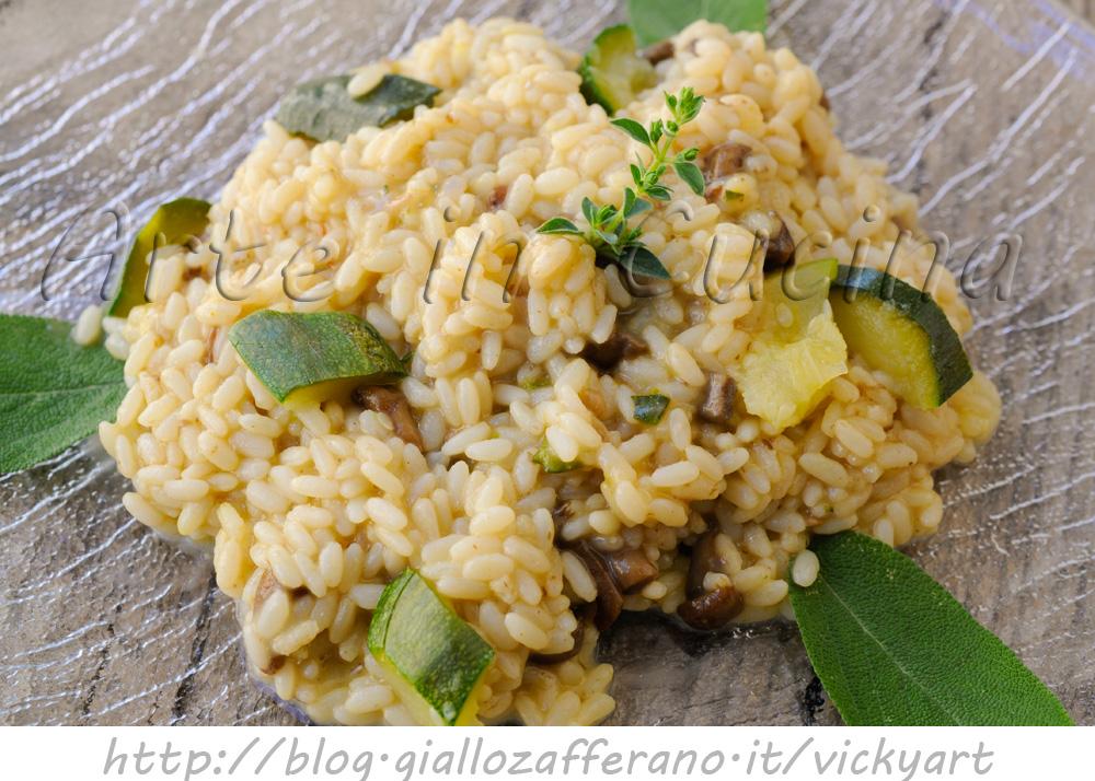 Riso con zucchine e funghi primo veloce vickyart arte in cucina