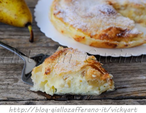 Torta di sfoglia ricotta e pera ricetta dolce veloce