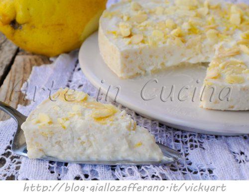 Torta fredda alla ricotta caprese al limone e cioccolato