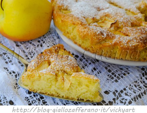 Torta di mele alla panna montata ricetta dolce facile