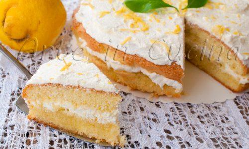 Torta ripiena di mele e crema fredda al limone