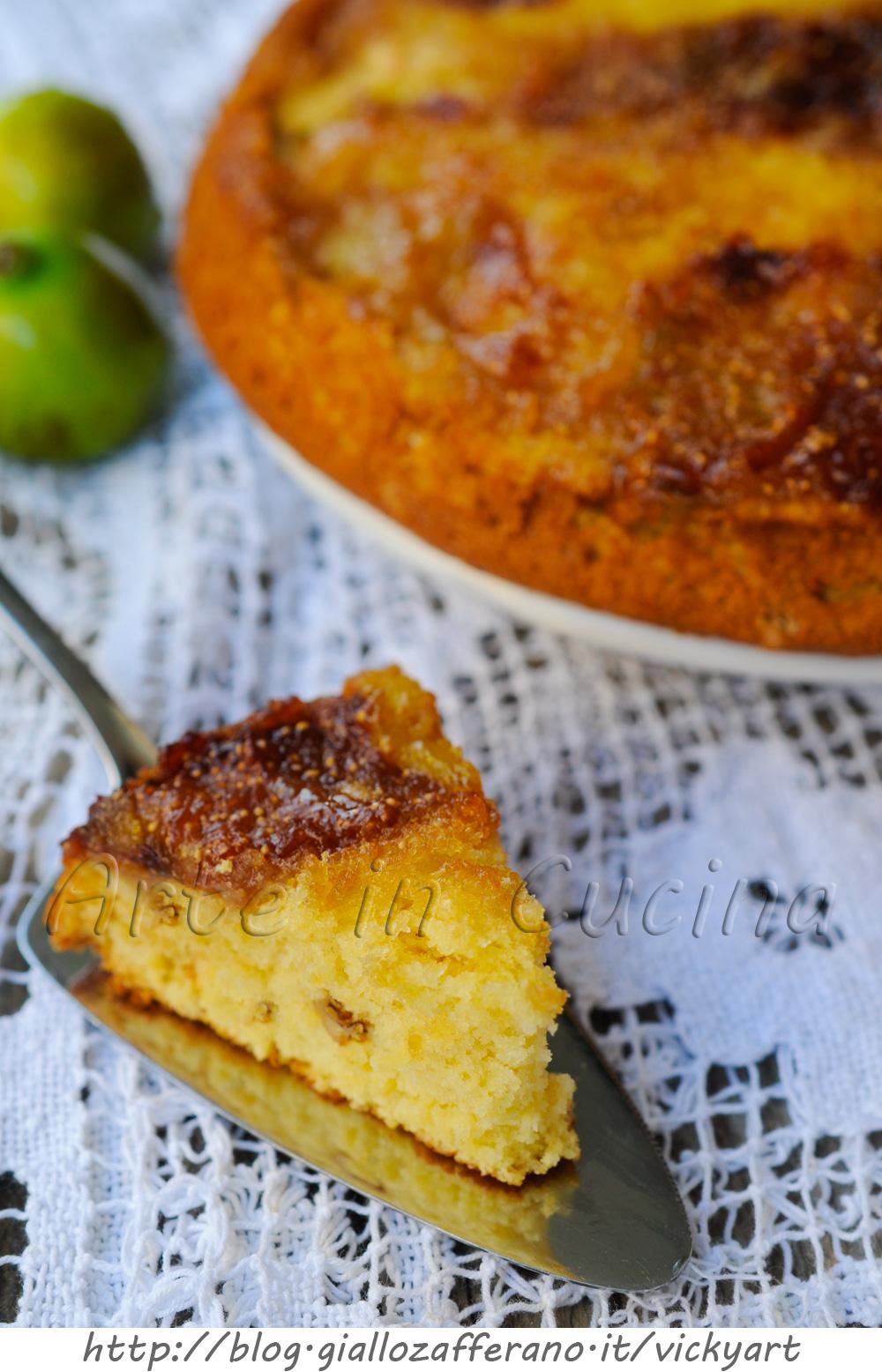 Torta rovesciata ai fichi e noci ricetta dolce veloce for Cucina dolce