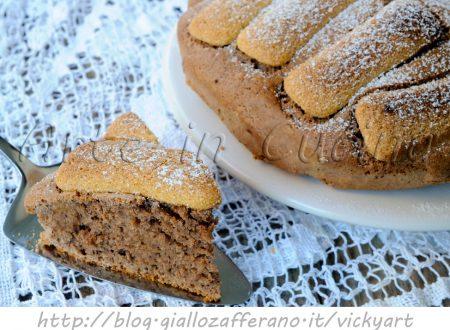 Torta semplice al cacao con pavesini