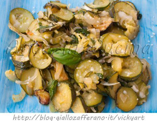 Zucchine a cassola con pecorino ricetta sarda