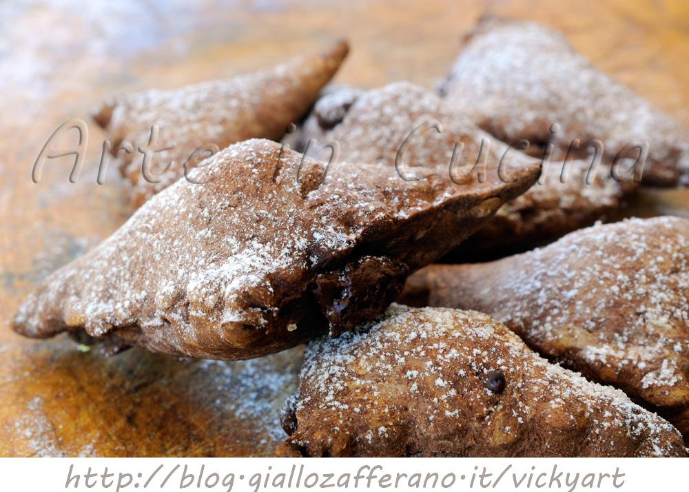 Biscotti al cacao ripieni alla nutella vickyart arte in cucina