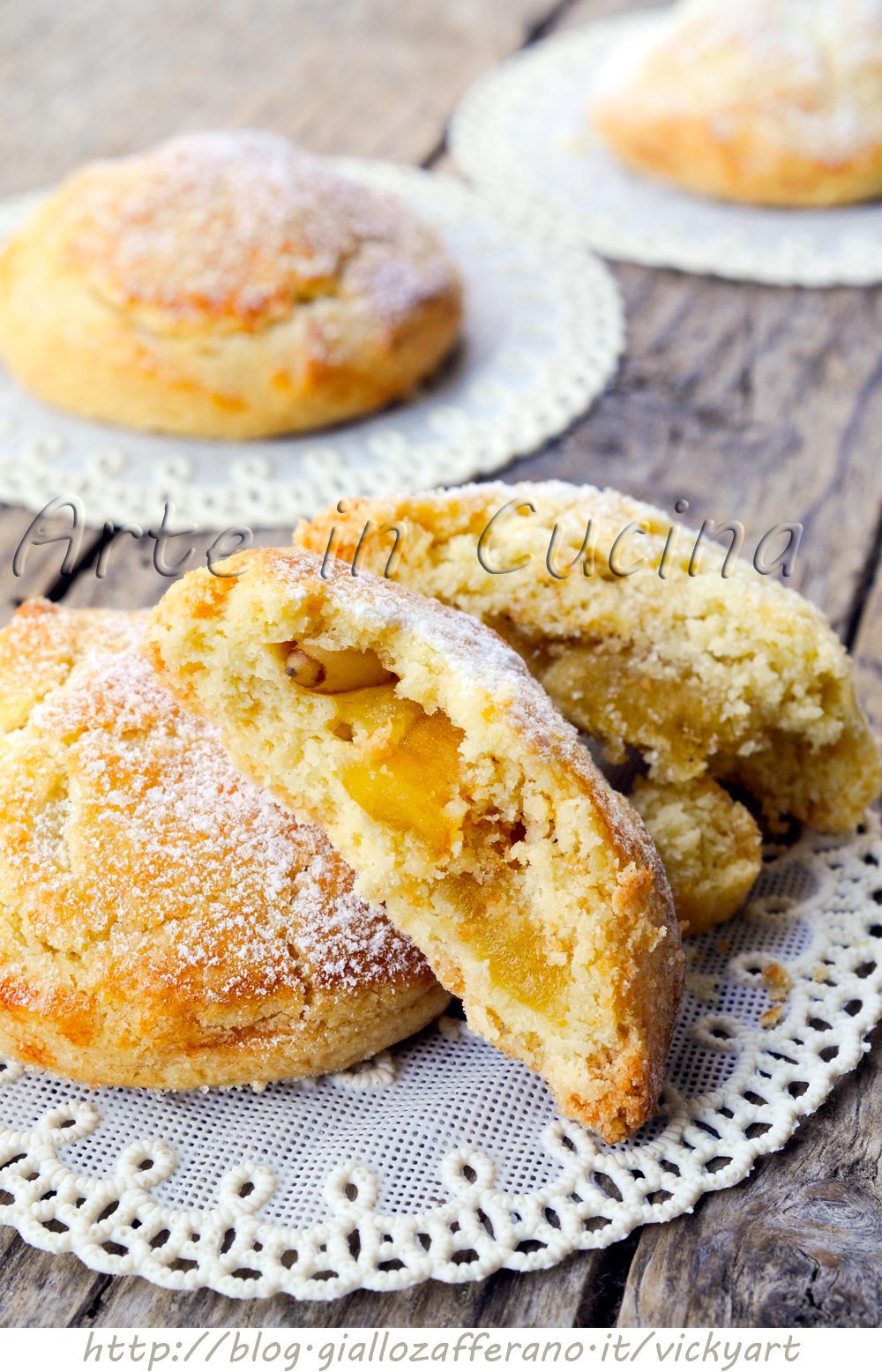 Biscotti cuor di mela e pinoli ricetta facile arte in cucina for Cucina facile ricette