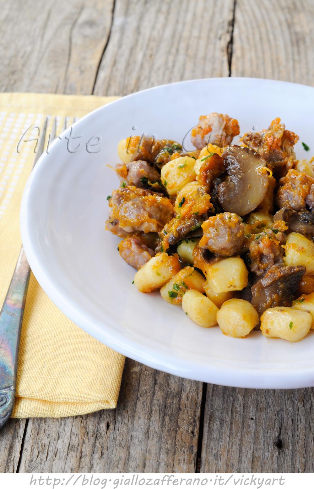 chicche-salsiccia-funghi-zucca-primo-piatto-facile-2