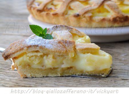 Crostata hawaiana crema e ananas