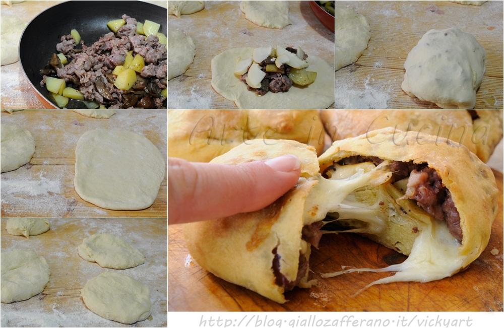 Fagottini di carne patate e funghi ricetta sfiziosa vickyart arte in cucina