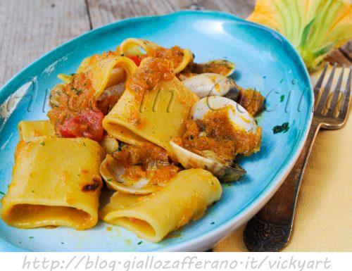 Paccheri con zucca e vongole ricetta facile