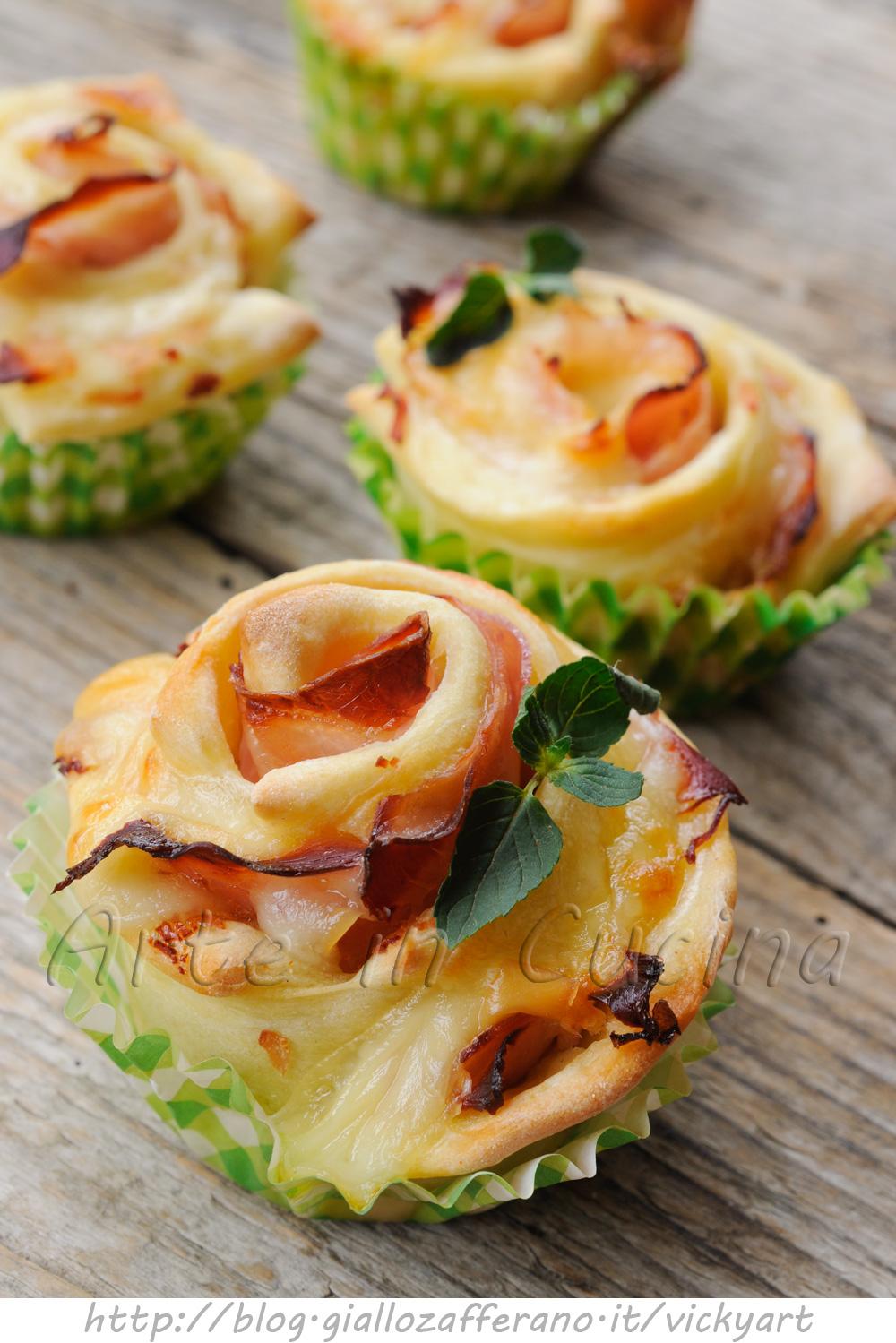 Rose al prosciutto ricetta antipasto veloce arte in cucina for Cucina antipasti