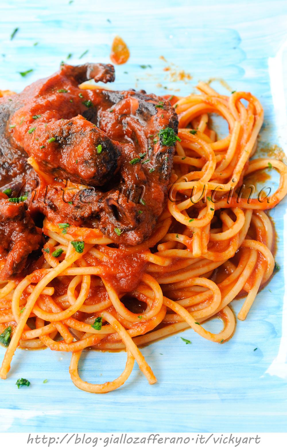 Spaghetti al sugo di polpo ricetta facile for Cucina facile ricette