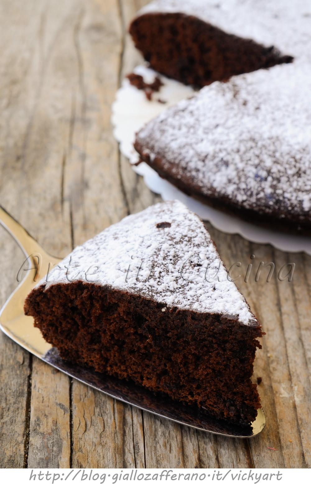 Torta al cioccolato in padella soffice senza olio e burro vickyart arte in cucina