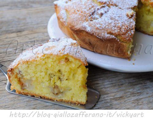 Torta con pere e noci morbida ricetta facile