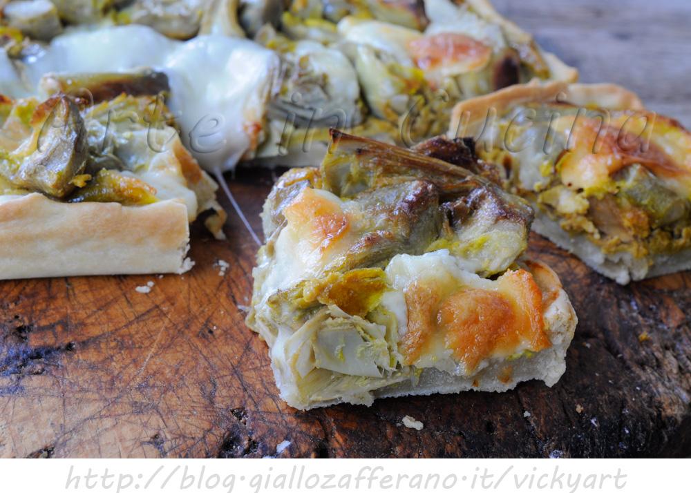 Tranci di crostata salata ai carciofi ricetta facile VICKYART ARTE IN CUCINA